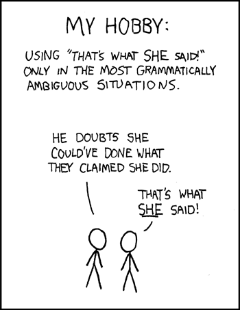 That's What She Said by xkcd.com